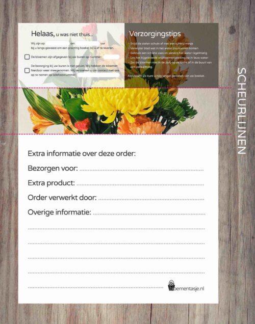 Orderbonnen template TOPBLOEMEN chrysant