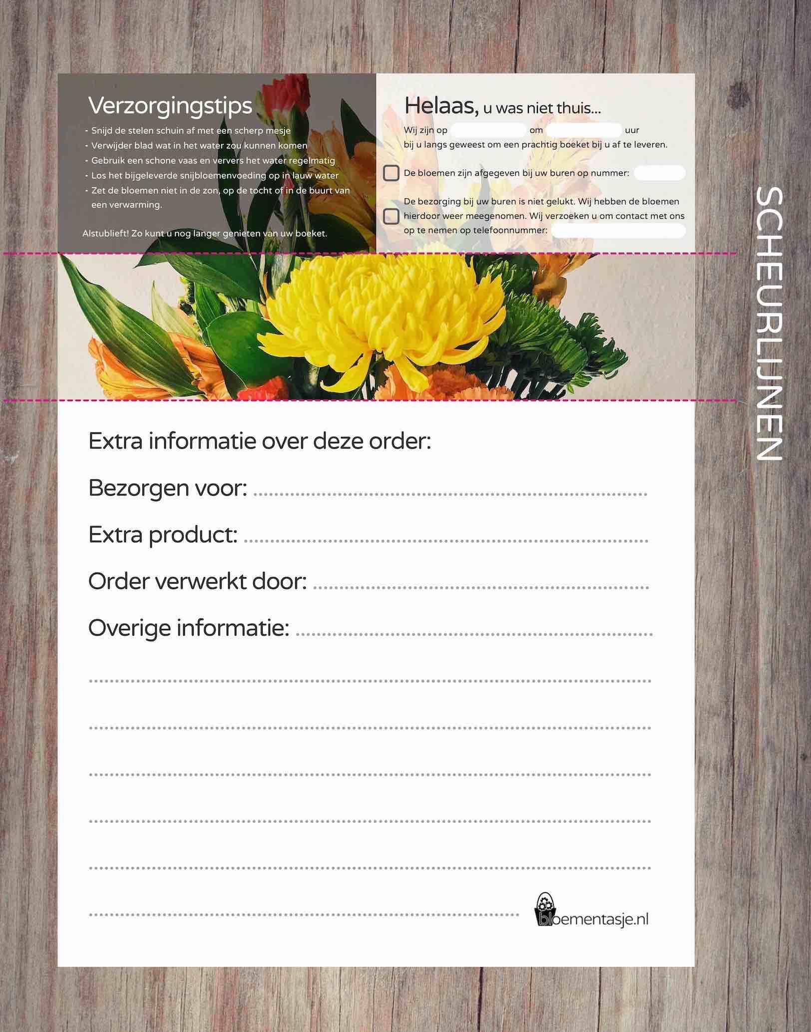 Orderbonnen template WEBBLOEMEN chrysant